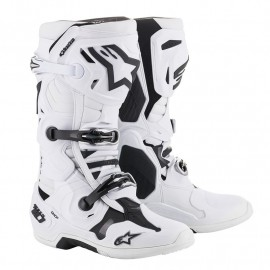 BOTTES CROSS ALPINESTARS TECH10 BLANC