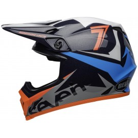 CASQUE BELL MX-9 MIPS SEVEN IGNITE GLOSS BLEU ORANGE Taille S
