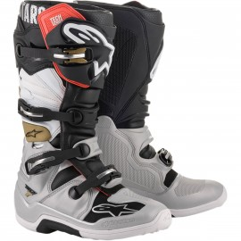 BOTTES ALPINESTARS TECH7 YELLOW FLUO/RED FLUO/GRAY/BLACK