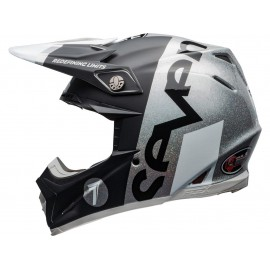 CASQUE CROSS BELL 2020 MOTO-9 FLEX SEVEN GALAXY NOIR/ARGENTE DUP'MX