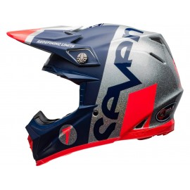 CASQUE CROSS BELL MOTO-9 FLEX SEVEN 2020 GALAXY BLEU/ORANGE/ARGENTE DUP'MX