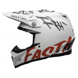 CASQUE CROSS BELL MOTO-9 FLEX FASTHOUSE 2020 WRWF BLANC/ROUGE/NOIR