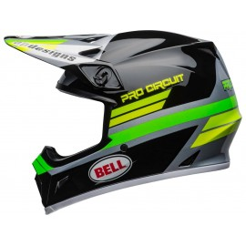 CASQUE CROSS BELL MX-9 MIPS PRO CIRCUIT 2020 NOIR/VERT DUP'MX