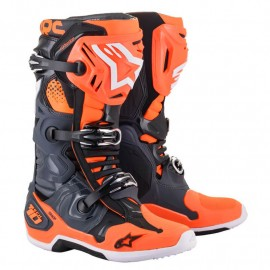 BOTTES CROSS ALPINESTARS TECH10 GRIS ORANGE FLUO 2021