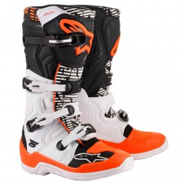BOTTES MX ALPINESTARS TECH5 BLANC/NOIR/ORANGE 2021