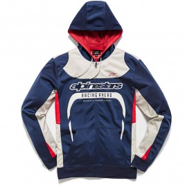 SWEAT A CAPUCHE ALPINESTARS SESSION BLEU DUP'MX