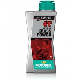 CARTON 12X 1L HUILE MOTOREX CROSS POWER 4T 100% SYNTHETIC SAE 10W/50