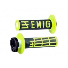 POIGNEE ODI EMIG V2 4 TEMPS LOCK ON NOIR/JAUNE FLUO
