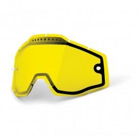 Ecran 100% double ventilé jaune Racecraft / Accuri / Strata