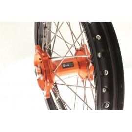 Roue arrière complète ART 18x2.15 jante noire/moyeu orange KTM EXC/EXC-F