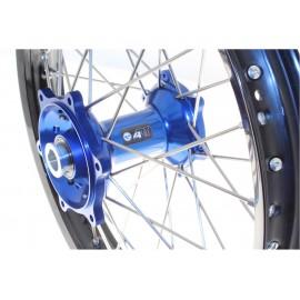 Roue arrière complète ART 19x2.15 jante noire/moyeu bleu Yamaha YZ250