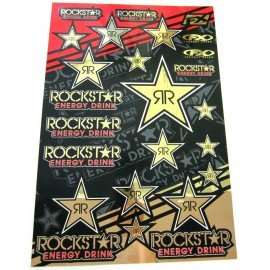 PLANCHE STICKERS ROCKSTAR ENERGY GOLD DUP'MX