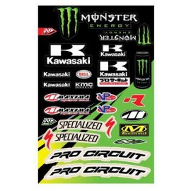 PLANCHE DE STICKERS MONSTER ENERGY PRO CIRCUIT DUP'MX
