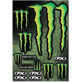 PLANCHE DE STICKERS MONSTER ENERGY XL DUP'MX