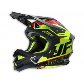 CASQUE UFO DIAMOND YELLOW/BLACK/RED DUP'MX