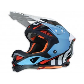 CASQUE UFO DIAMOND TURQUOISE/BLACK/RED DUP'MX