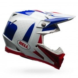 CASQUE BELL MOTO-9 FLEX VICE BLEU/ROUGE T.M