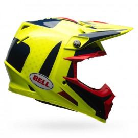 CASQUE BELL MOTO-9 FLEX VICE BLEU/JAUNE T.S