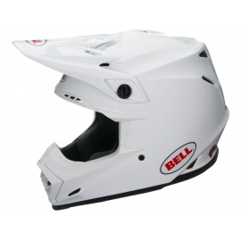 CASQUE BELL MOTO-9 MIPS SOLID BLANC DUP'MX