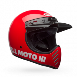 CASQUE BELL MOTO 3 CLASSIC ROUGE Taille S