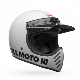 CASQUE BELL MOTO 3 CLASSIC BLANC T.S DUP'MX