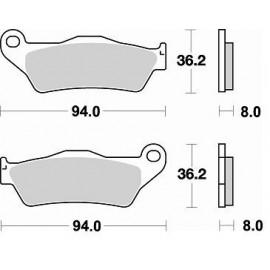 PLAQUETTES FREIN AVANT BRAKING 746CM44 KTM