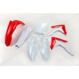 KIT PLASTIQUES UFO CRF 250R 14-17 450R 13-16 ROUGE/BLANC