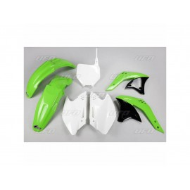 KIT PLASTIQUES UFO KX250F 07 DUP'MX photo non contractuelle
