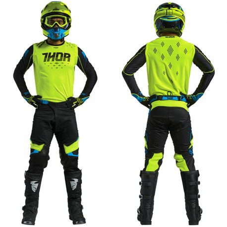 tenue motocross thor mx prime fit rohl jaune fluo noir 2018 dup 39 mx. Black Bedroom Furniture Sets. Home Design Ideas