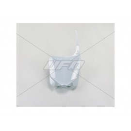 PLAQUE FRONTALE UFO BLANC HONDA CRF 450 13-16 & CRF 250 14-17