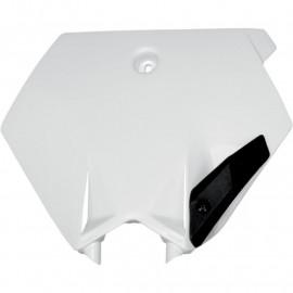 PLAQUE FRONTALE UFO BLANC KTM SX 85 04-12