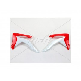 OUIES RADIATEURS UFO ROUGE HONDA CRF 250 14-17 & CRF 450 13- 16