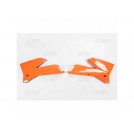 OUIES RADIATEUR UFO ORANGES KTM SX 05-06 & EXC 05-07