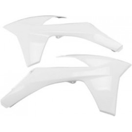 OUIES RADIATEURS UFO BLANCHES KTM SX/SXF 11-12 & EXC 12-13