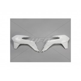 OUIES RADIATEURS UFO BLANCHES KTM SX/SXF 13-15 & EXC 14-16