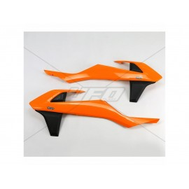 OUIES RADIATEURS UFO ORANGES KTM SX/SXF 16-18 & EXC 17-19