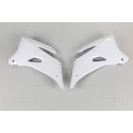 OUIES RADIATEURS SUPERIEURES UFO BLANCHES YAMAHA YZF 250/450 06-09