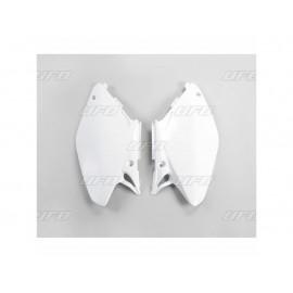 PLAQUES NUMERO LATERALES UFO BLANC HONDA CR 125/250 05-07