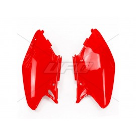 PLAQUES NUMERO LATERALES UFO ROUGES HONDA CR 125/250 02-04