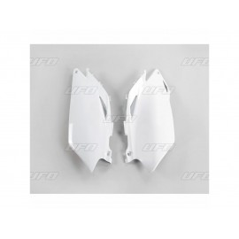 PLAQUES NUMERO LATERALES UFO BLANCHES HONDA CRF 250 10 & CRF 450 09-10