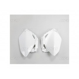 PLAQUES NUMERO LATERALES UFO BLANCHES HONDA CRF 450 07-08