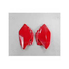 PLAQUES NUMERO LATERALES UFO ROUGES HONDA CRF 450 07-08