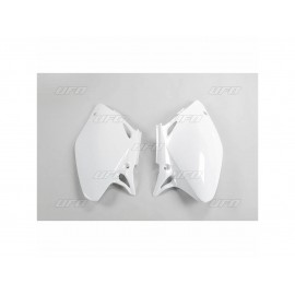 PLAQUES NUMERO LATERALES UFO BLANCHES HONDA CRF 450 02-04