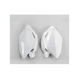 PLAQUES NUMERO LATERALES UFO BLANCHES HONDA CRF 250 04-05
