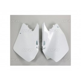 PLAQUES LATERALES UFO BLANC SUZUKI RM 125/250 06-08