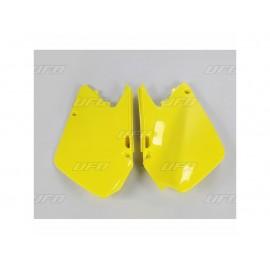 PLAQUES LATERALES UFO JAUNE SUZUKI RM 125/250 03-05