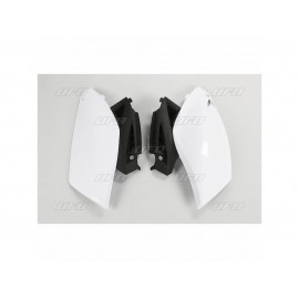 PLAQUES LATERALES UFO BLANC YAMAHA YZF 250 10-13
