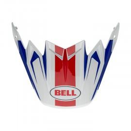 VISIERE BELL MOTO-9 FLEX VICE BLEU/ROUGE