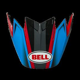 VISIERE BELL MOTO 9 FLEX HOUND CYAN/ROUGE