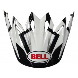 VISIERE BELL MOTO 9 DISTRICT BLANC/NOIR/ROUGE